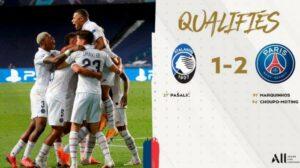 Hasil Liga Champions Atalanta vs PSG : Dramatis, 2 Gol Menit Akhir Antar PSG Lolos ke Semifinal