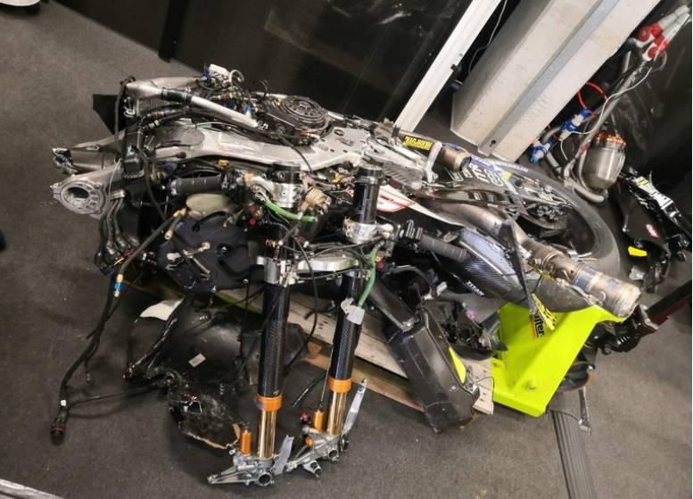 Lihat Ini Kondisi Motor Morbidelli Setelah Kecelakaan Parah Di MotoGP Austria Kemarin