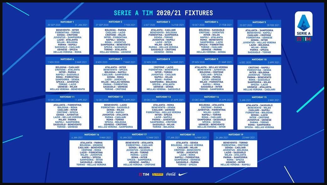 Jadwal Liga Italia Terbaru Musim 2020-2021 | Sepakbola.id