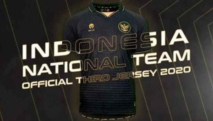 Jersey Ketiga Timnas Indonesia Berwarna Hitam yang Didominasi dengan Warna Emas