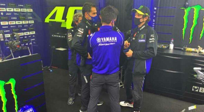 Lintasan Basah, Valentino Rossi Tidak Maksimal