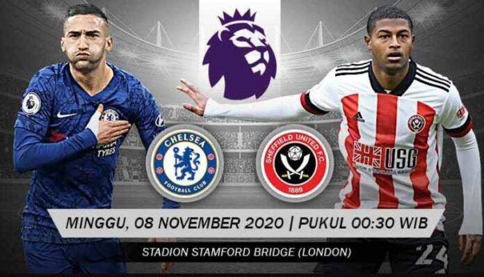 Prediksi Susunan Pemain dan Head to head, Chelsea Vs Sheffield United di Liga Inggris