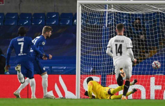 Werner Borong Dua Gol Penalti, The Blues Menang 3-0